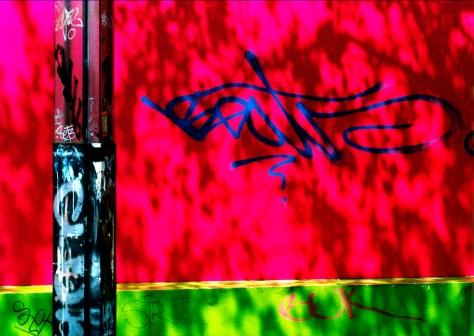 Basel 2000 Ohne Titel Graffiti quer Postkarte