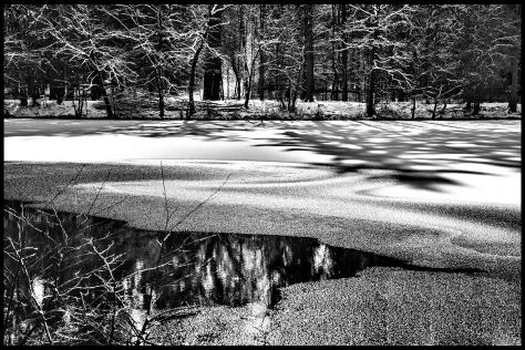 stuttgart 2015 Verschneite Wasserfläche 01 Druck 40x60